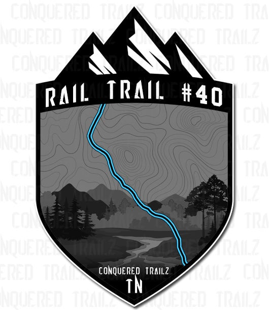 "Image of ""Rail Trail #40"" Trail Badge"