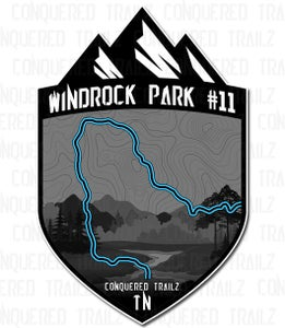 "Image of ""Windrock Park #11"" Trail Badge"