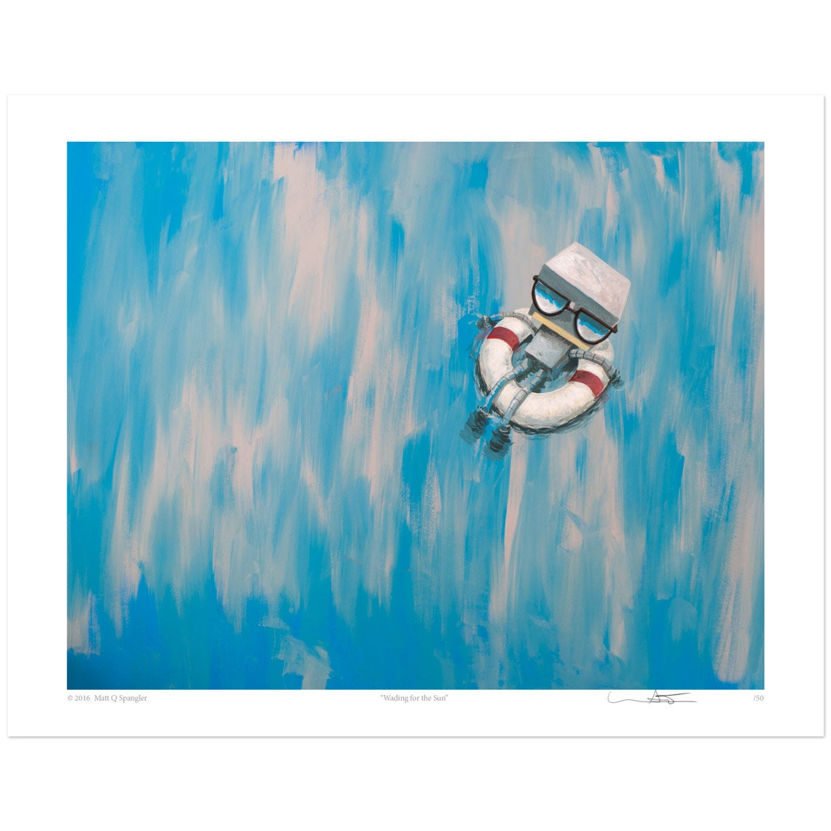 Image of Wading for the Sun Print