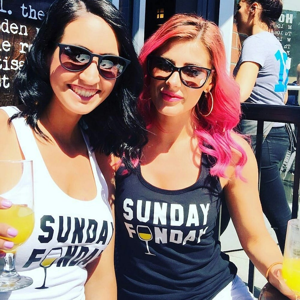 Image of SUNDAY FUNDAY Mimosa & Wine racerbacks