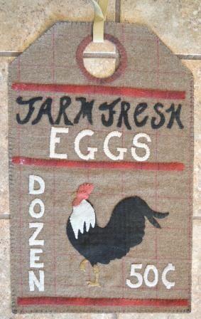 Farm Fresh Eggs- Vintage Tag Series