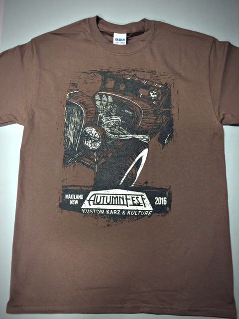 Image of AutumnFest Guys & Ladies T-Shirt Brown