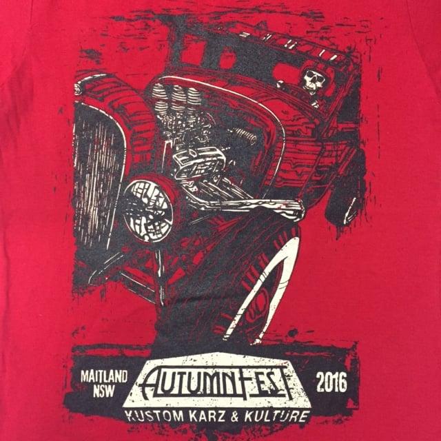 Image of AutumnFest Ladies T-Shirt Red