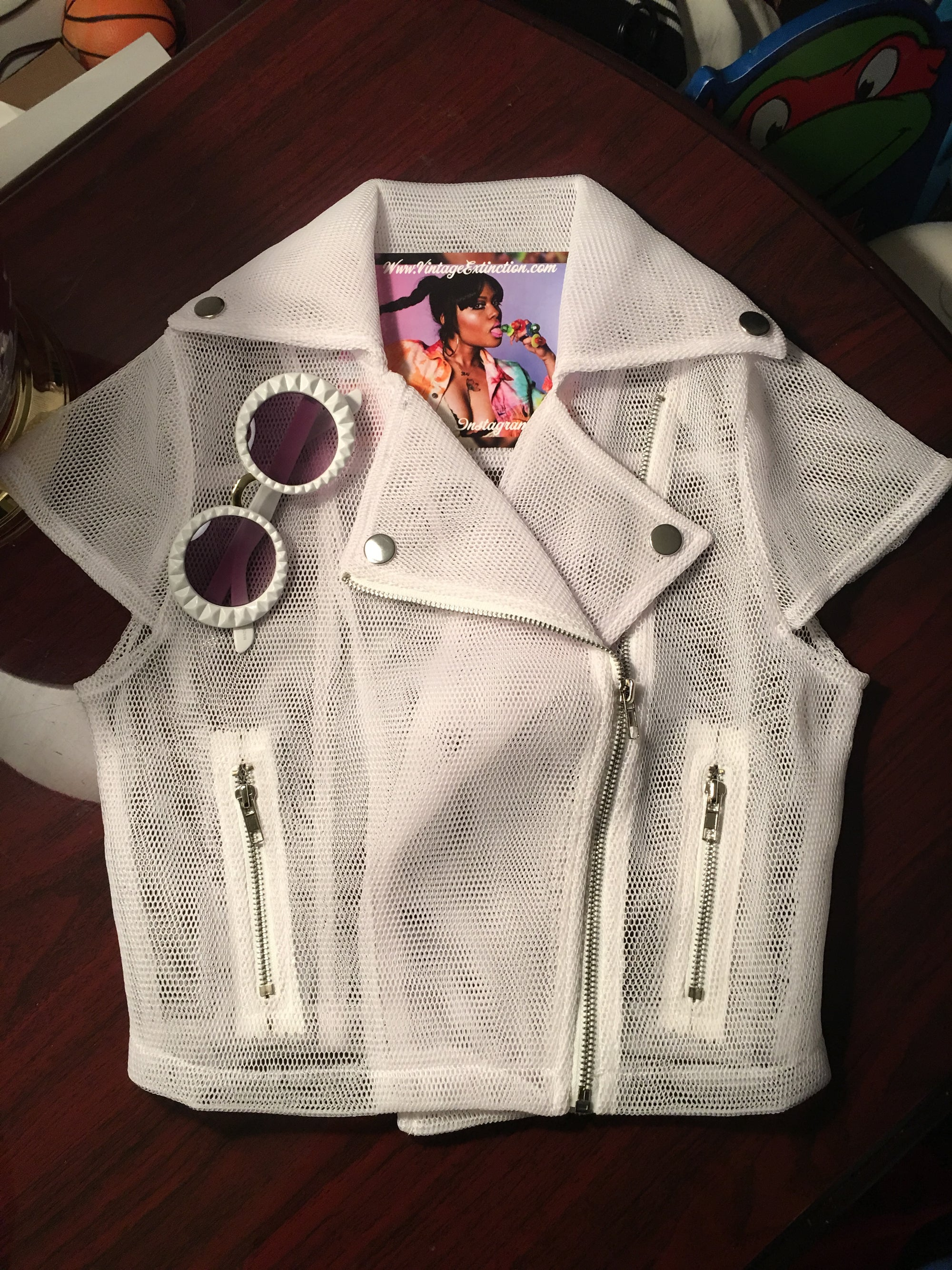 Image of New White Mesh Motorcycle Jacket