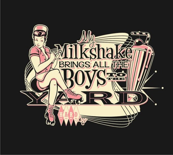 Image of Milkshake! Ladies Black T-Shirt