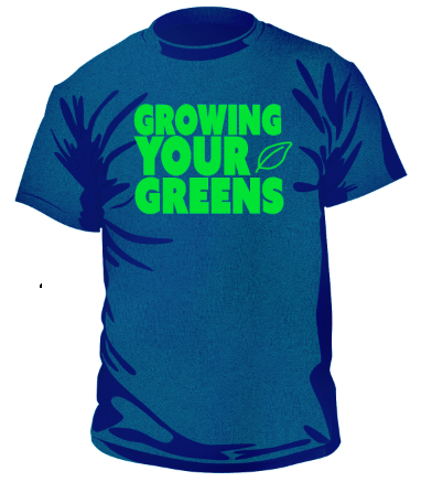 Image of Clearance unisex Growing Your Greens t-shirt (NAVY)