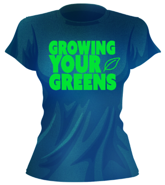 Image of PRE-ORDER Women's Growing Your Greens t-shirt (NAVY)