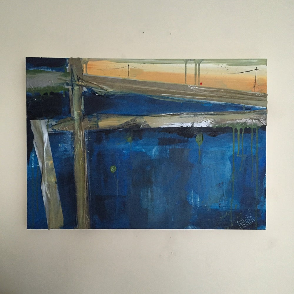 Image of SHELTER #3 - Acrylic on canvas with tape, 60 x 40cms