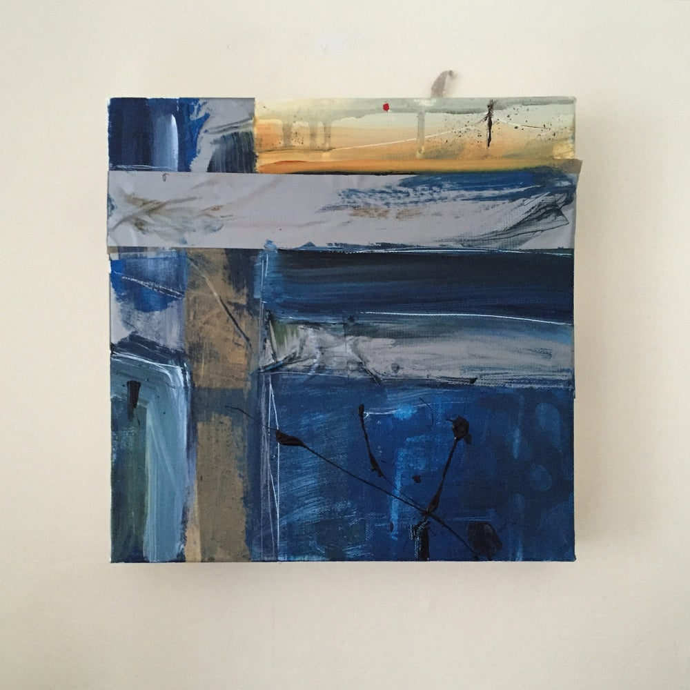Image of SHELTER #5 - Acrylic on canvas with tape, 30 x 30cms