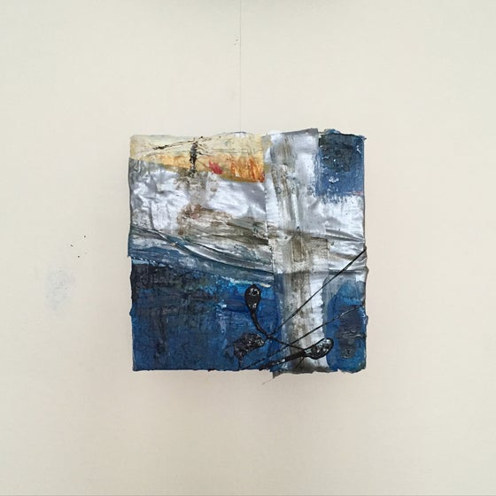 Image of SHELTER #8 - Acrylic on canvas with tape, 10 x 10cms