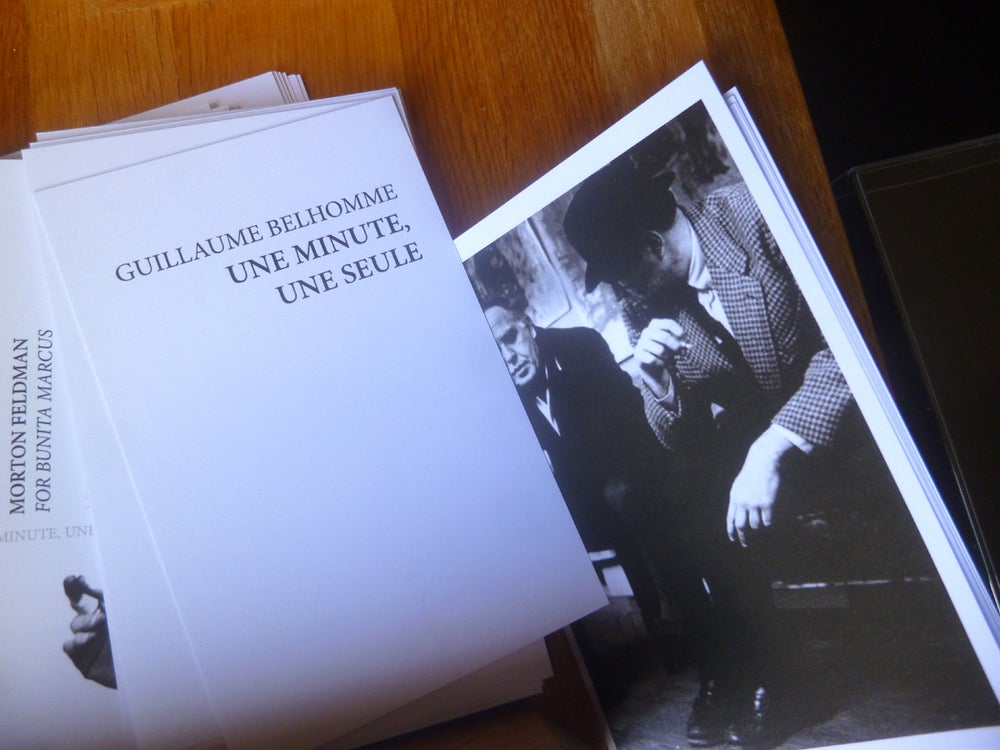 Image of Morton Feldman : For Bunita Marcus / Une minute de Guillaume Belhomme