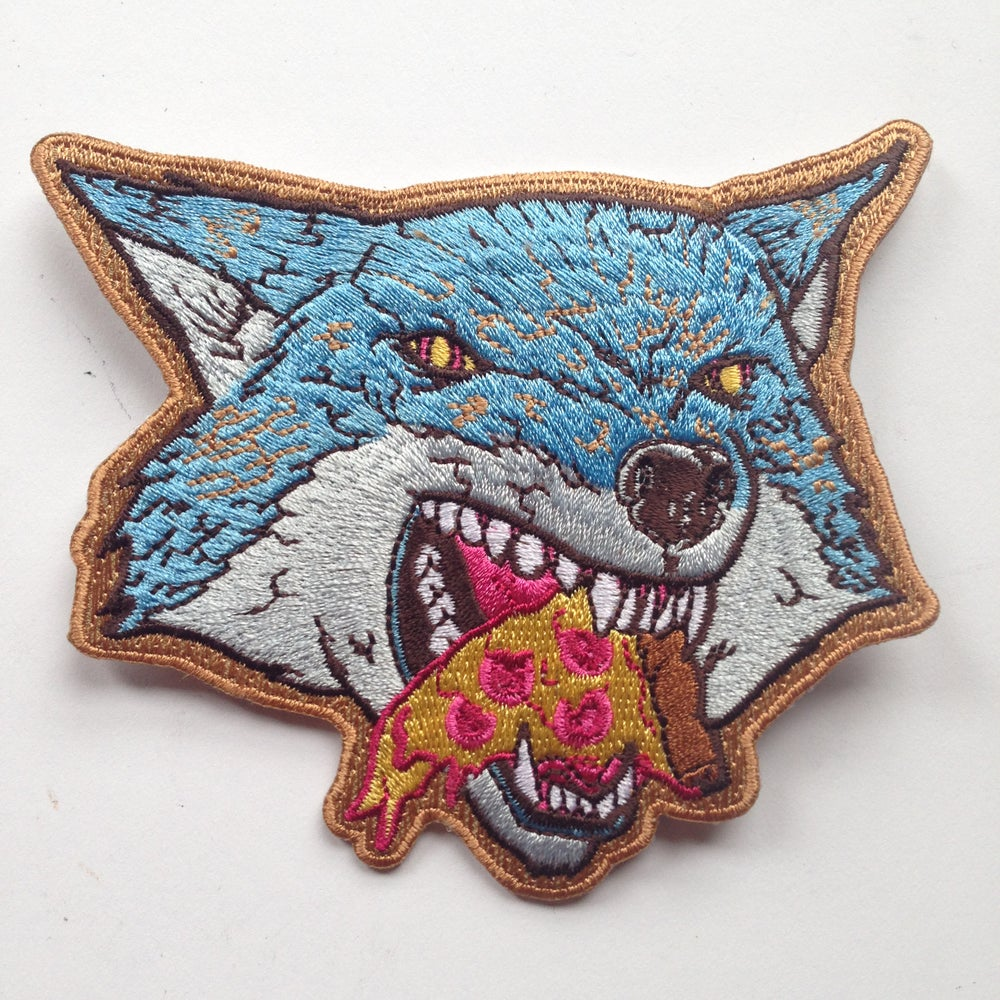 Image of Pizza Wolf Die Cut Patch