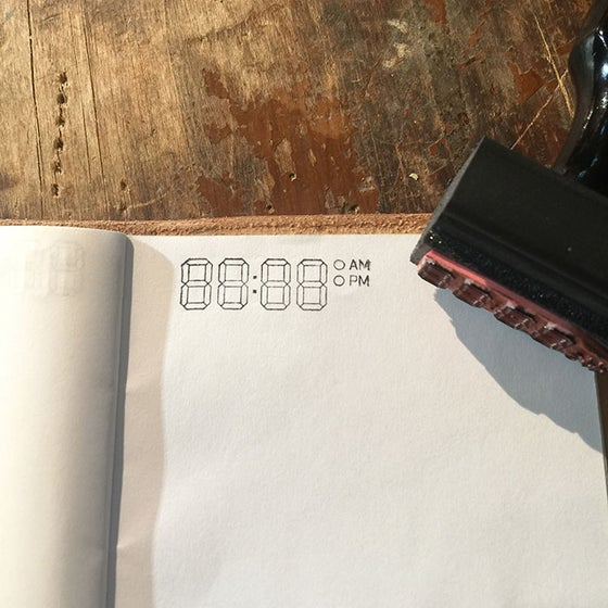 Image of Notebook Journaling Time Stamp