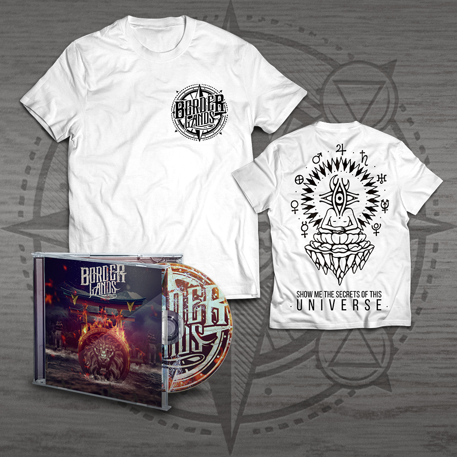 Image of BUNDLE #1 - GRAY UNIVERSE T-SHIRT + CD