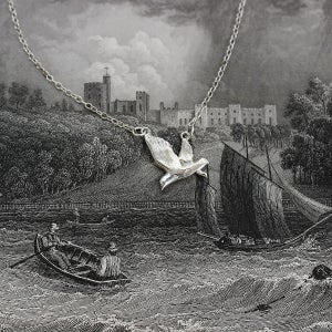 Image of seagull necklace