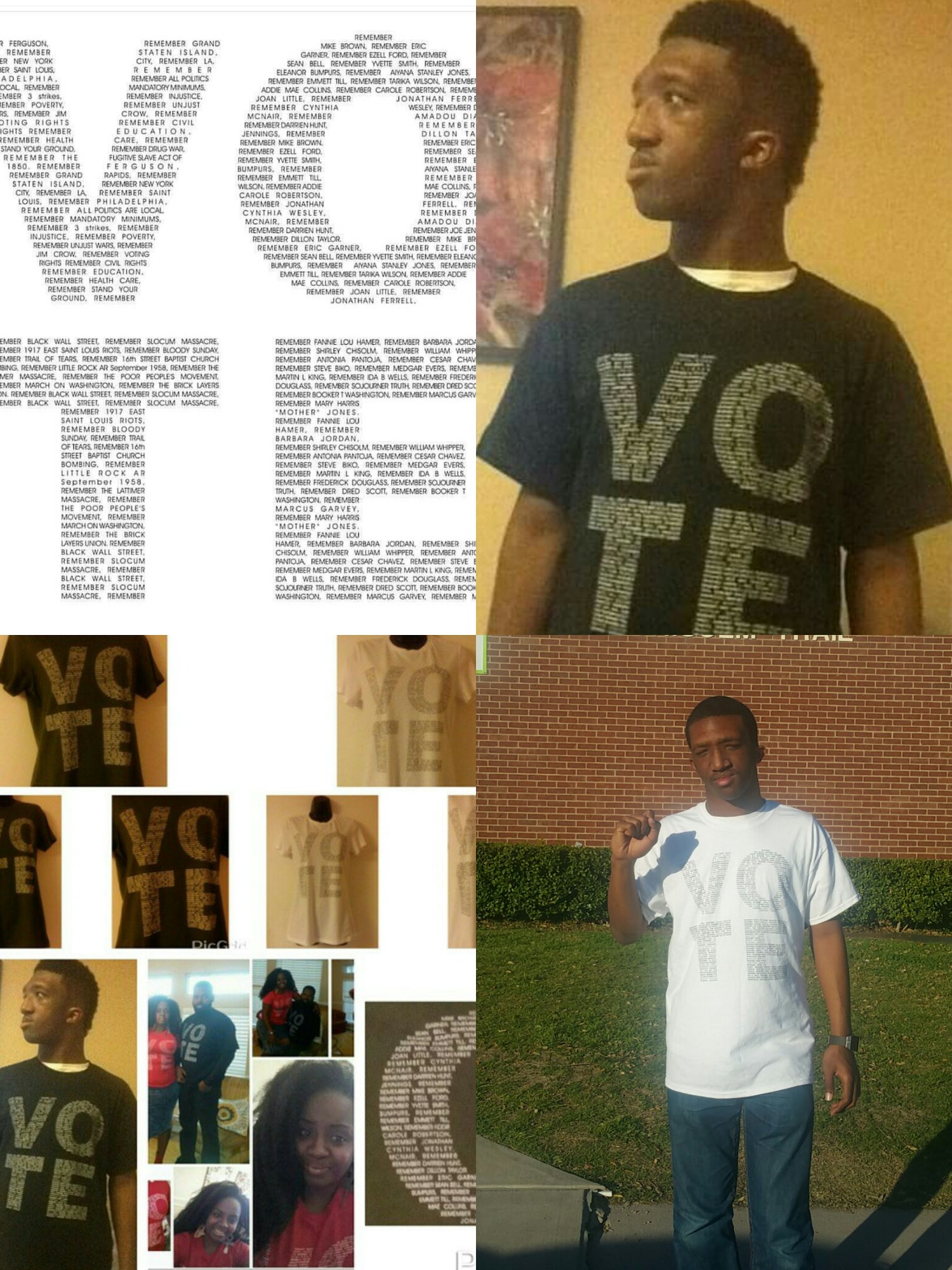 Image of VOTE MEN'S TSHIRT RED W/WHITE LETTERS PLEASE ALLOW UP TO 10-14 BUSINESS DAYS TO RECEIVE