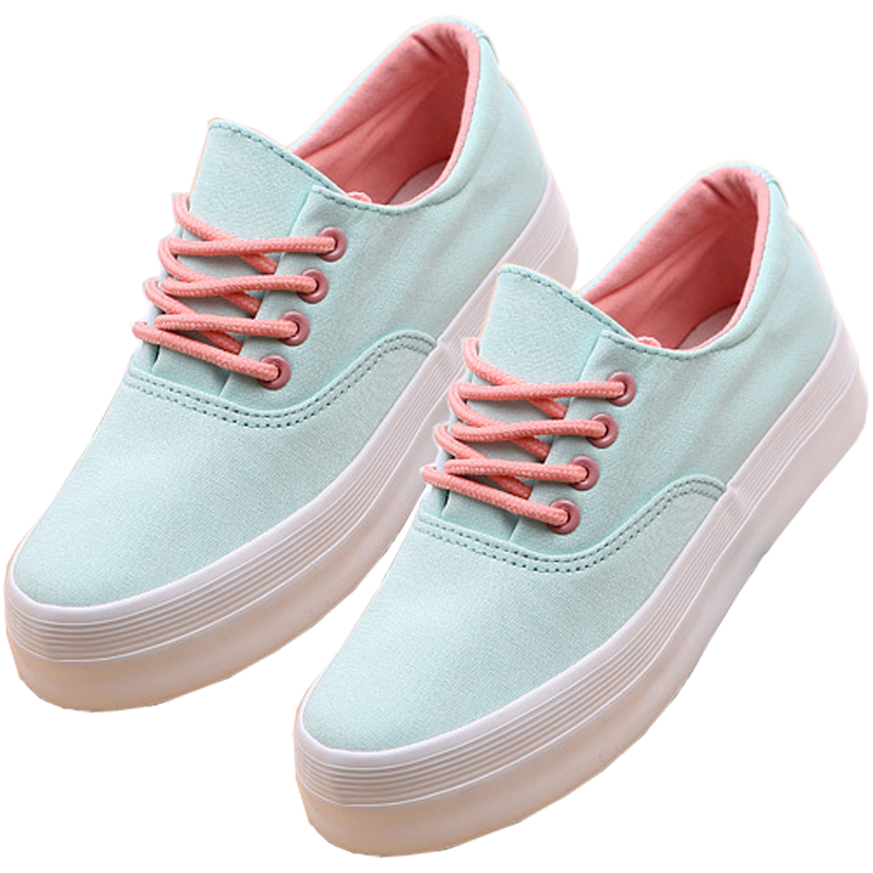 Baby Blue and Pink Aesthetic Sneakers