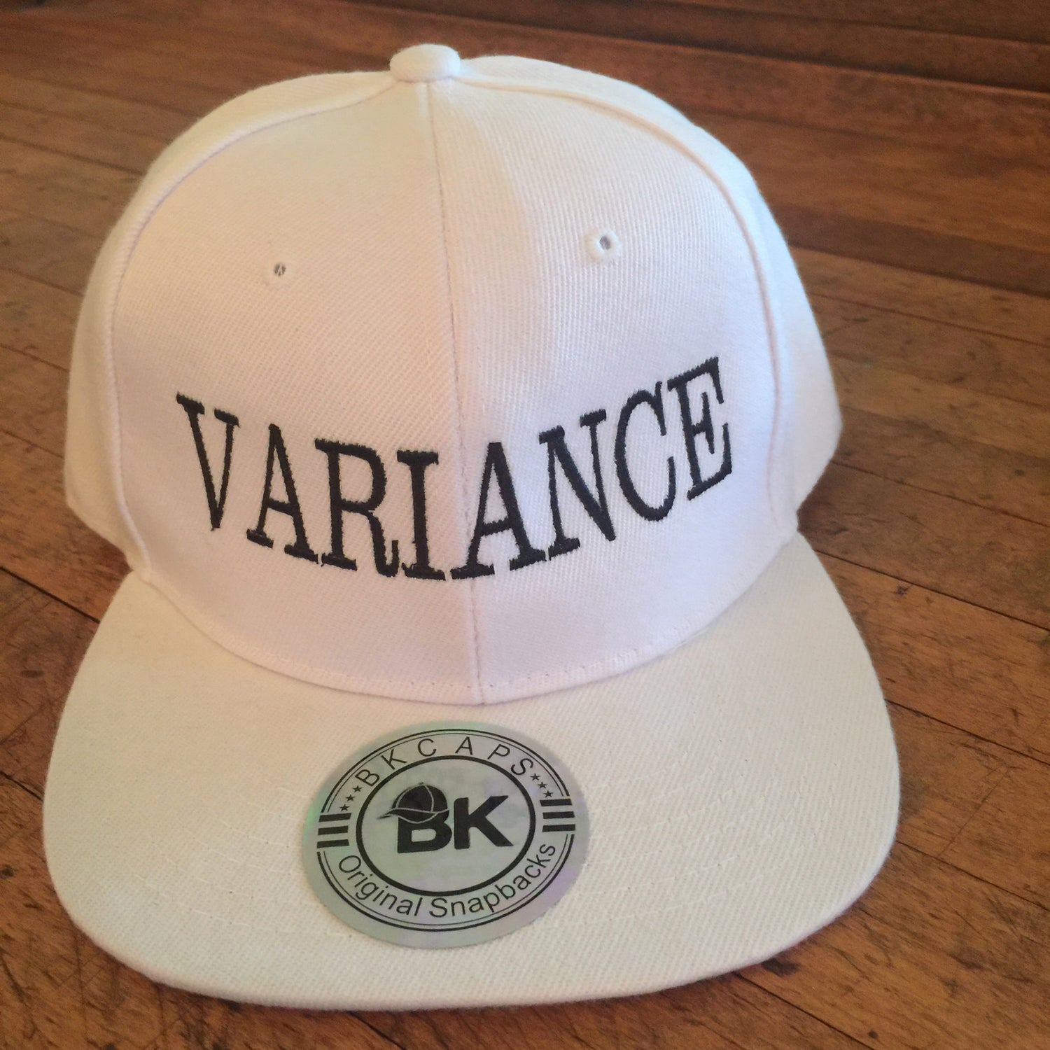 Image of Variance Degen White Snap Back Ball Cap. Add to Cart. BK Caps Flat  Bill Blank Plain Snapback Hats with Same Color Underbill ... df8f0e72cf4f