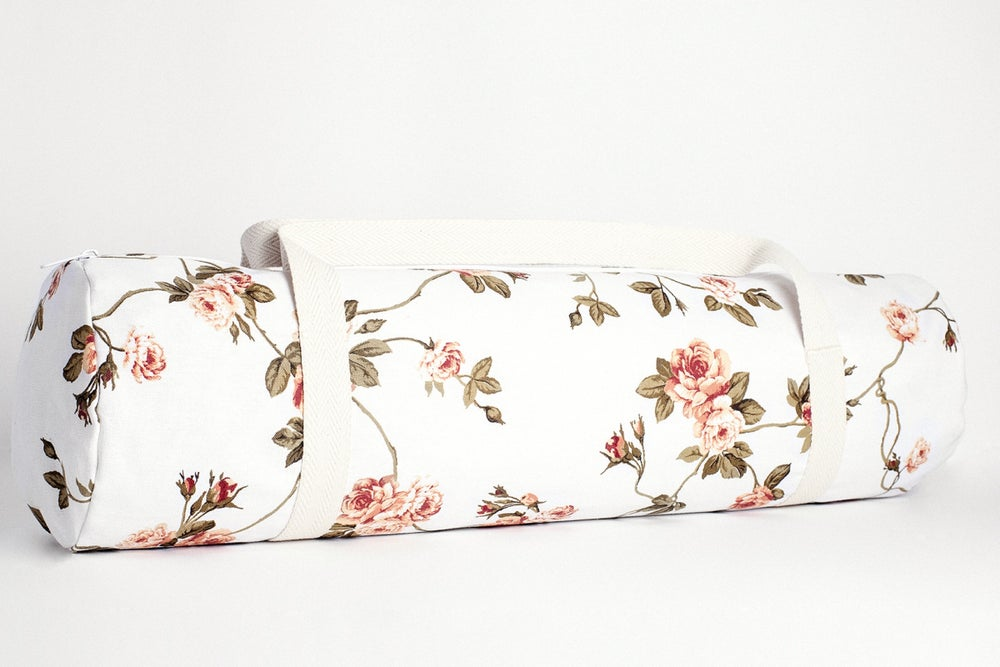 Image of Yoga Bag • White Rustic Flowers