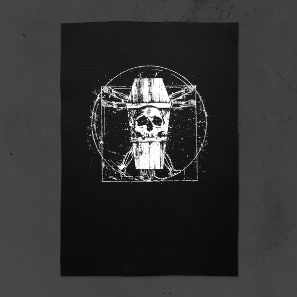 Image of Vitruvian Coffin Back Patch