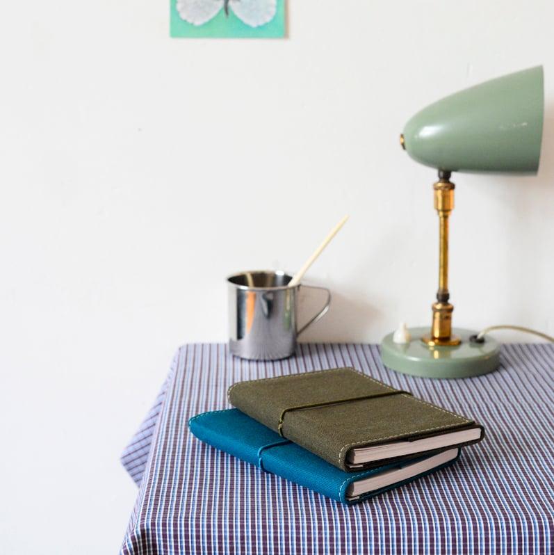 Image of Carnet en toile coton à spirale • BRADERIE •
