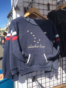 Image of Alaska Love Slouchy Sweatshirt- Navy