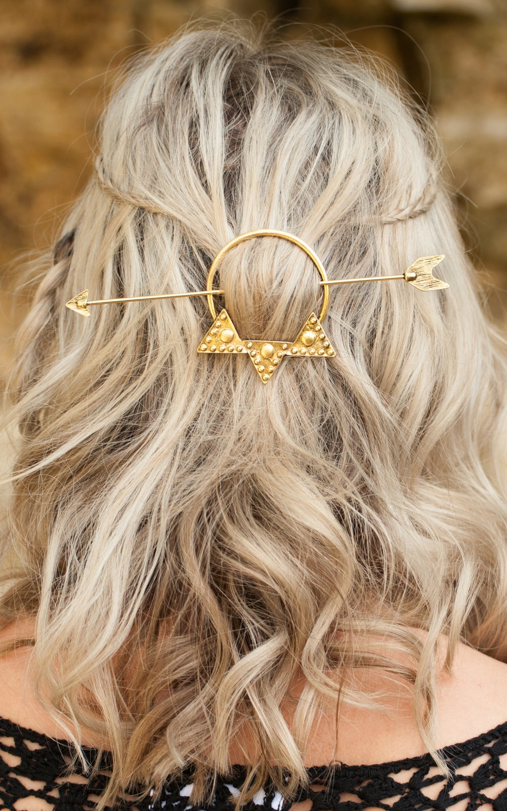 Image of Neptune Hair Clip Gold Arrow Three Colours Available