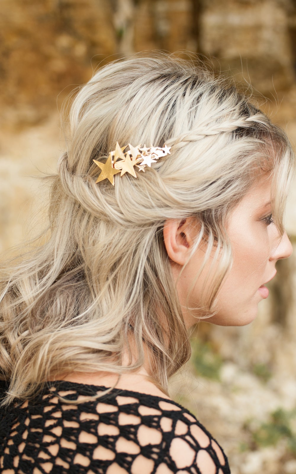 Image of Comet Hair Barrette Gold or Silver