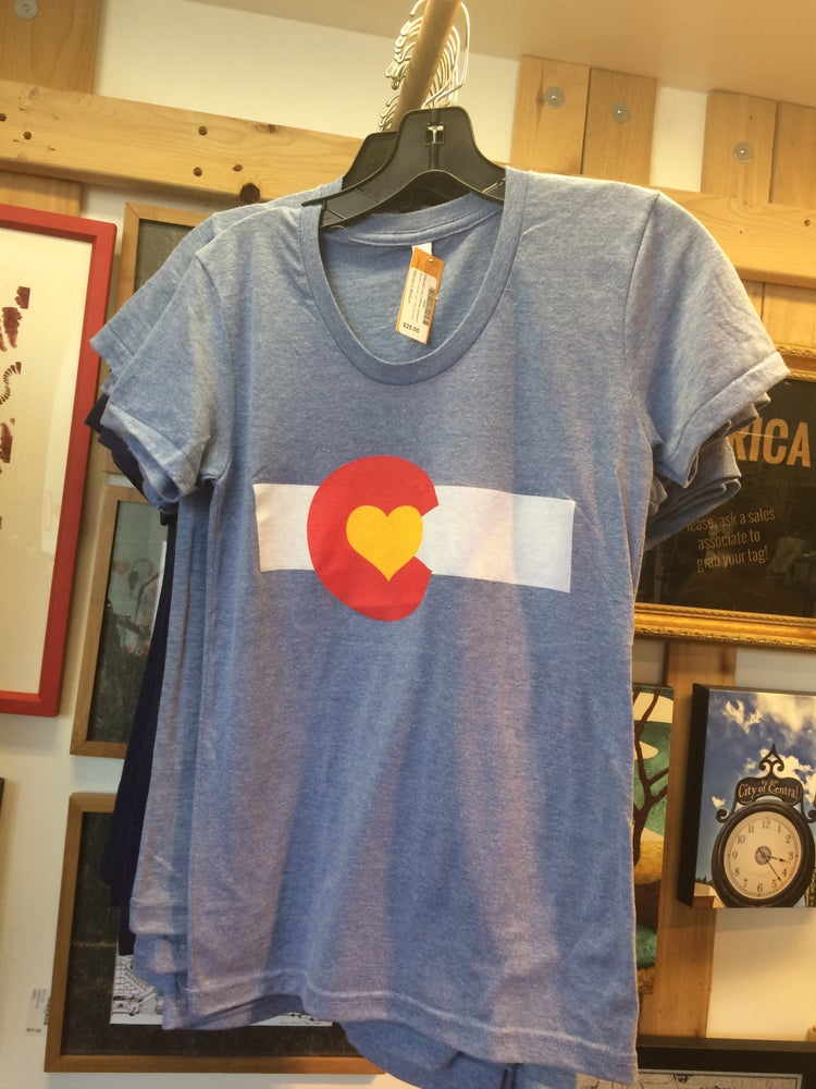 Image of Colorado Love Tee- Women's Athletic Blue