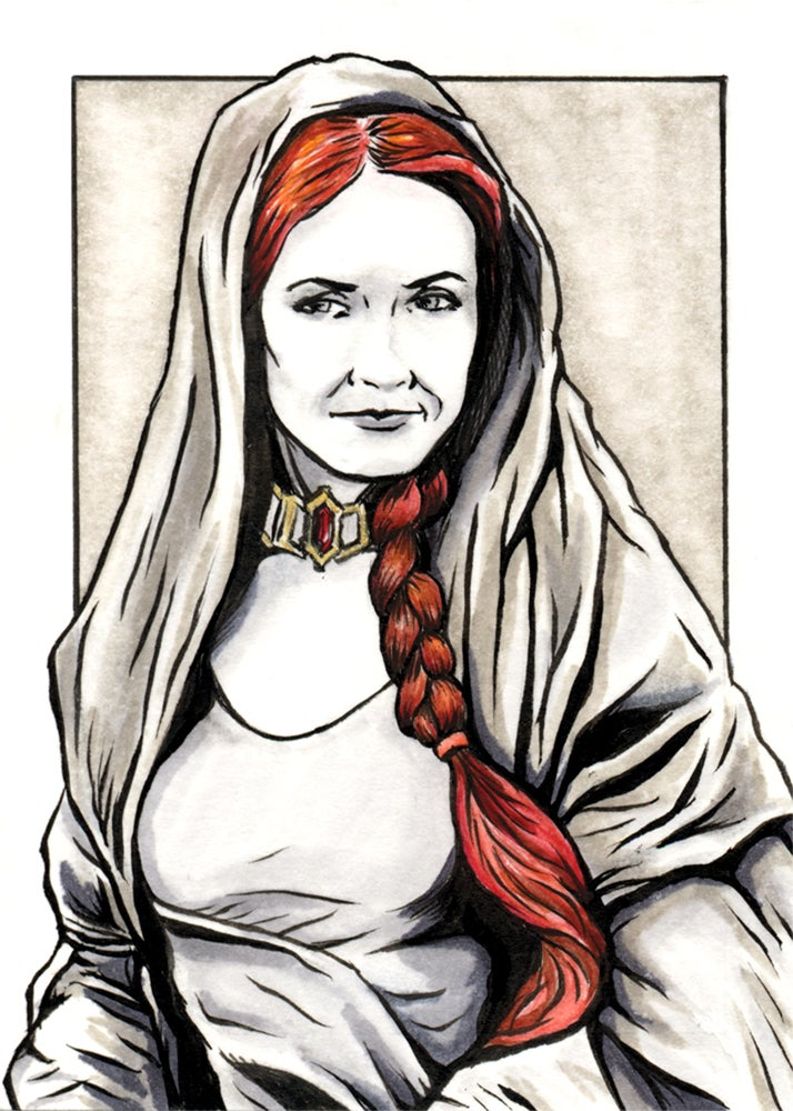 Image of Melisandre Original Art Card (Framed)