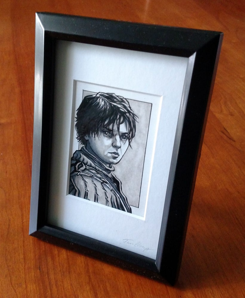 Image of Arya Stark Original Art Card (Framed)