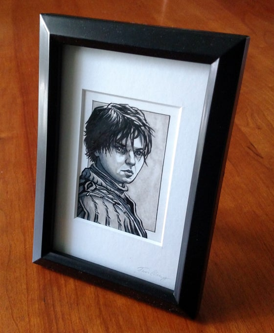 Image of Arya Stark Original Art Card (Framed)