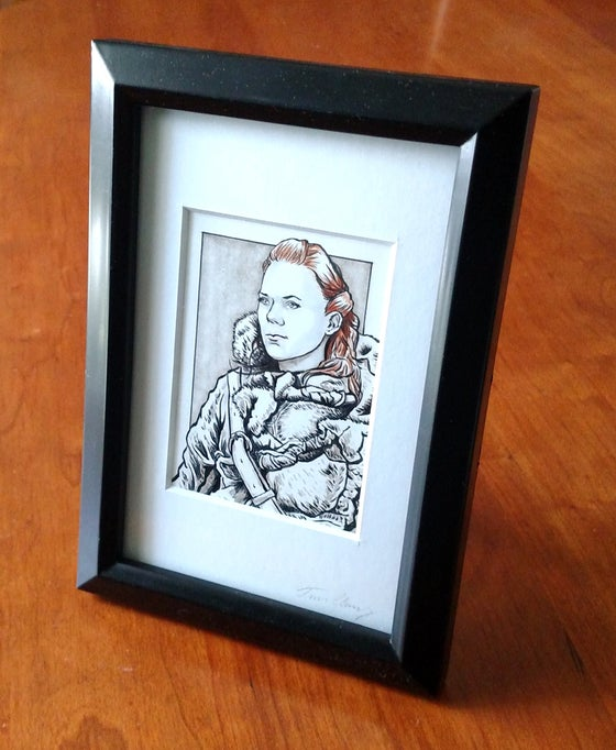 Image of Y'gritte Original Art Card (Framed)
