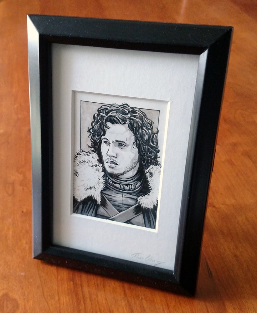 Jon Snow Original Art Card (Framed) / EscapeHatchDesign