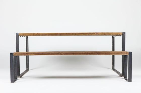 Image of dining table set teak