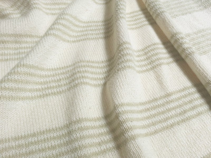 Image of Color-Grown Cotton Stripe Jersey (by the half yard)