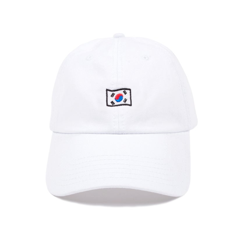 Image of Korea Low Profile Sports Cap - White