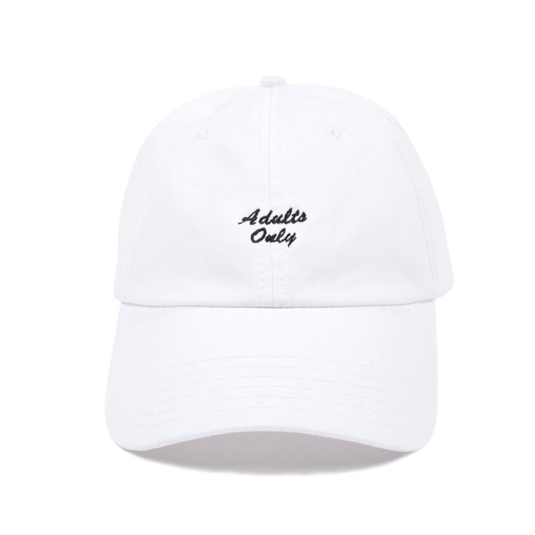 Image of Adults Only Low Profile Sports Cap - White