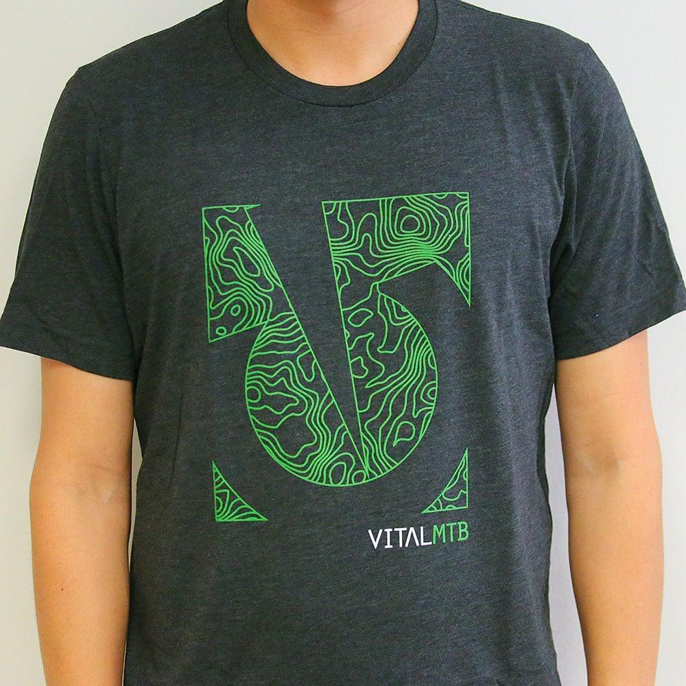 Image of Vital MTB Topo T-Shirt, Charcoal-Black