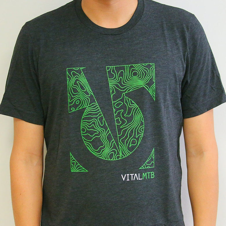 Image of Vital MTB Topo T-Shirt, Charcoal-Black