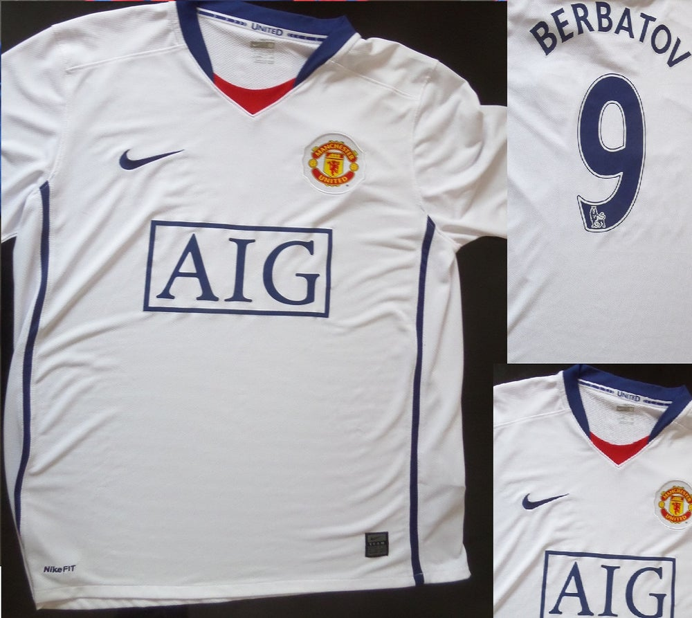buy popular d0026 b838c MANCHESTER UNITED AWAY KIT 2008/2009#9 DIMITAR BERBATOV SIZE MEDIUM MENS
