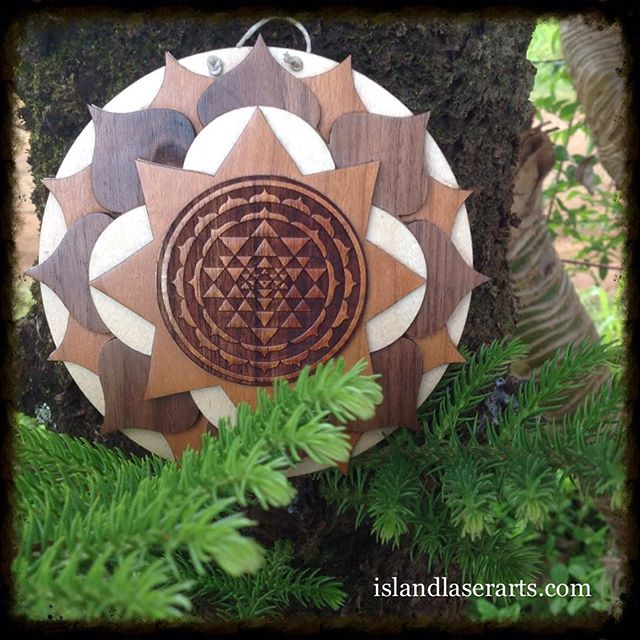 Image of Sri Yantra Mandala wall hanging (stacked)