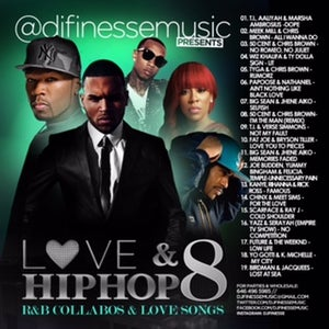 Image of LOVE & HIP HOP MIX VOL. 8 (HIP-HOP/R&B COLLABOS)