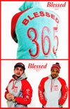 Blessed 365 Hooded Sweatshirt - Oxford/Red