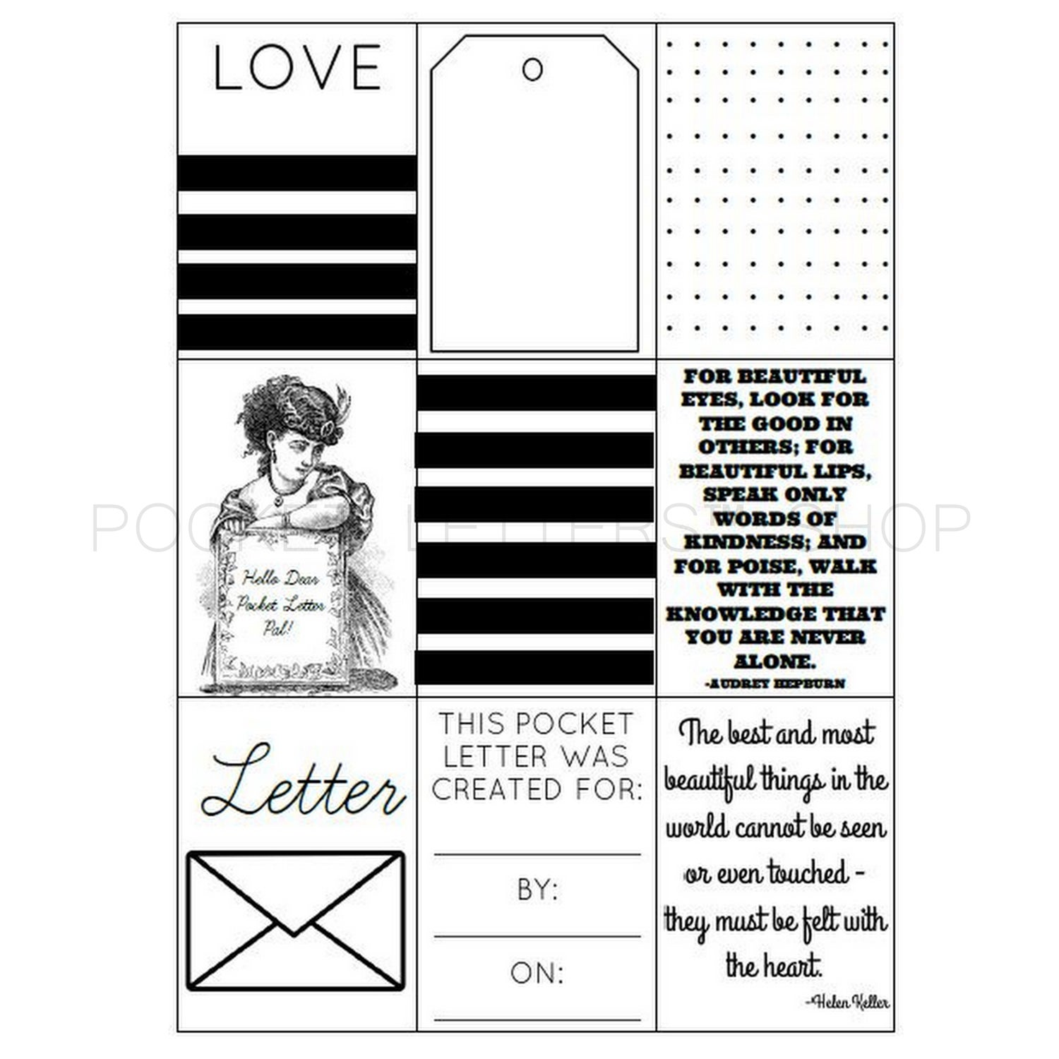 Image of Pocket Letters™ Download (B&W)