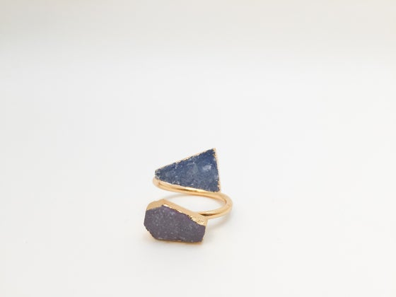 Image of 24k Gold Plated Druzy Midi Rings