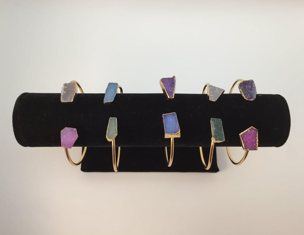 Image of Druzy Agate Cuff Bracelets