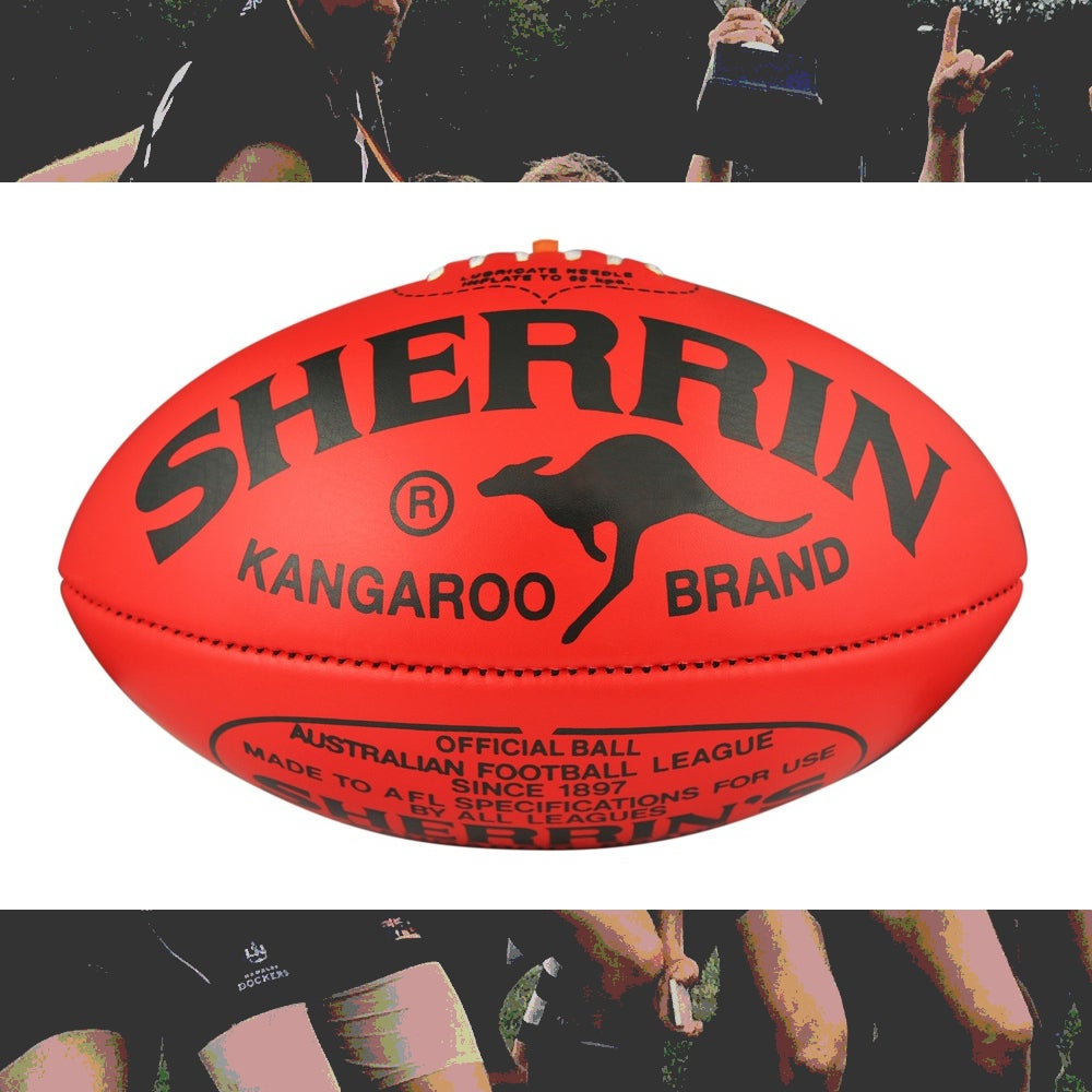 Image of Football Sherrin Kangaroo Brand