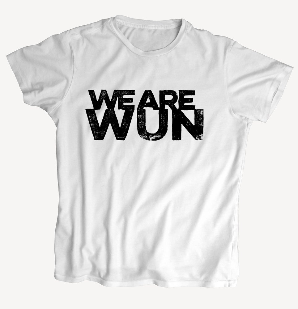 """Image of T-Shirt """"WEAREWUN"""" - handprinted with love"""