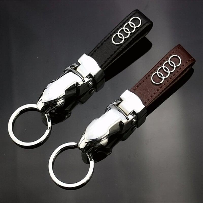 Audi Leather Keychain MotorChains - Audi keychain